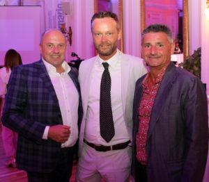 20. Bini-systems Golfturnier in Lana: (v.l.n.r.): Günter Wimmer (systems GmbH), Alexander Bini, Heinrich Dorfer (Quellenhof). Fotocredit: BRANDMEDIA
