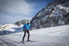 Langlaufen am Gletscher
